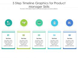 5 Step Timeline Graphics For Product Manager Skills Infographic Template