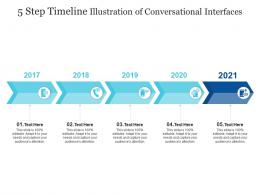 5 Step Timeline Illustration Of Conversational Interfaces Infographic Template