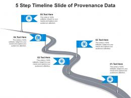 5 Step Timeline Slide Of Provenance Data Infographic Template
