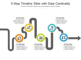 5 Step Timeline Slide With Data Cardinality Infographic Template