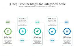 5 Step Timeline Stages For Categorical Scale Infographic Template