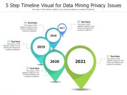 5 Step Timeline Visual For Data Mining Privacy Issues Infographic Template
