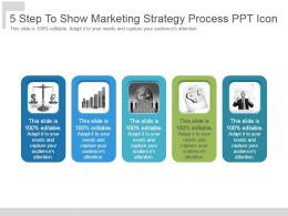 5 Step To Show Marketing Strategy Process Ppt Icon