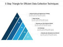 5 Step Triangle For Efficient Data Collection Techniques