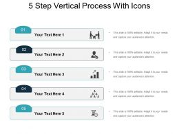 5 Step Vertical Process With Icons