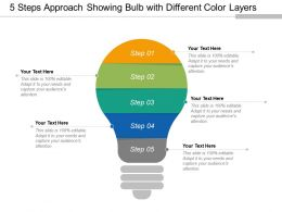 5 Steps Approach Showing Bulb With Different Color Layers