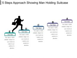 5 Steps Approach Showing Man Holding Suitcase