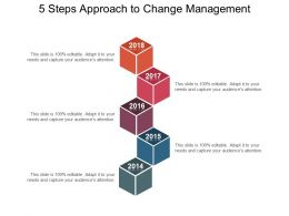 5 Steps Approach To Change Management Ppt Slide Themes