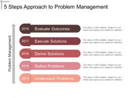 5 Steps Approach To Problem Management Ppt Slides