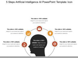 5 Steps Artificial Intelligence Ai Powerpoint Template Icon Powerpoint Layout
