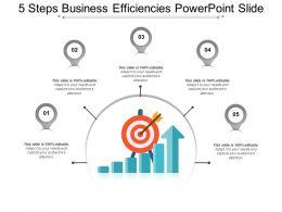 5 Steps Business Efficiencies Powerpoint Slide