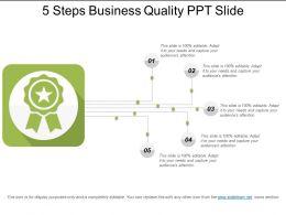 5 Steps Business Quality Ppt Slide