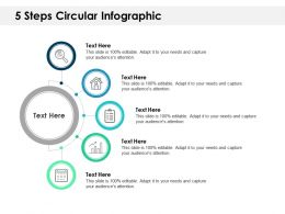 5 Steps Circular Infographic