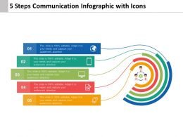 5 Steps Communication Infographic With Icons