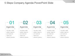 5 Steps Company Agenda Powerpoint Slide