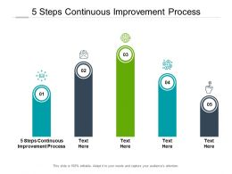 5 Steps Continuous Improvement Process Ppt Powerpoint Presentation Styles Cpb