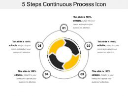 5 Steps Continuous Process Icon