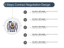 5 Steps Contract Negotiation Design Powerpoint Graphics