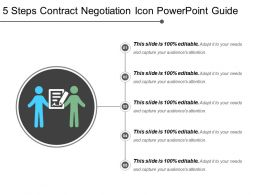5 Steps Contract Negotiation Icon Powerpoint Guide