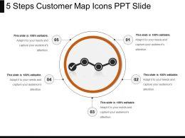 5_steps_customer_map_icons_ppt_slide_Slide01