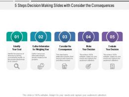 5 Steps Decision Making Slides With Consider The Consequences