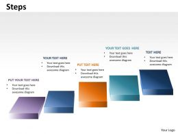 5 Steps Diagram For Linear Business Growth