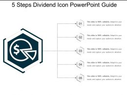 5 Steps Dividend Icon Powerpoint Guide