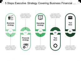 5 Steps Executive Strategy Covering Business Financial And Operational Strategy