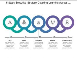 5 Steps Executive Strategy Covering Learning Assess Understand Network And Communication