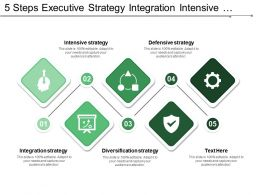 5 Steps Executive Strategy Integration Intensive Diversification And Defensive Strategy