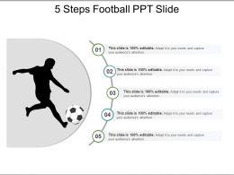 5 Steps Football Ppt Slide