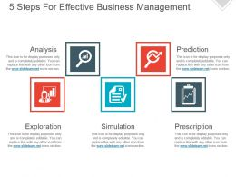 5 Steps For Effective Business Management Powerpoint Ideas