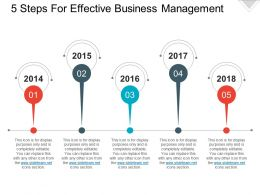 5 Steps For Effective Business Management Presentation Deck