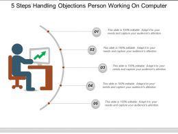 5 Steps Handling Objections Person Working On Computer