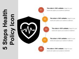 5 Steps Health Policy Icon