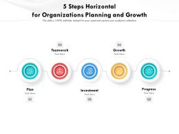 5 Steps Horizontal For Organizations Planning And Growth