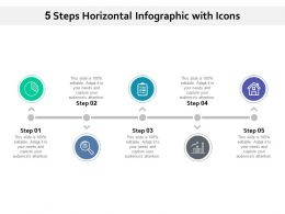 5 Steps Horizontal Infographic With Icons