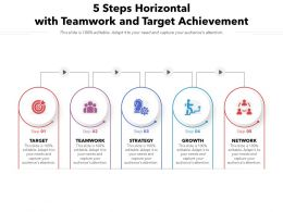 5 Steps Horizontal With Teamwork And Target Achievement