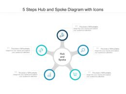 5 Steps Hub And Spoke Diagram With Icons