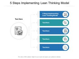 5 Steps Implementing Lean Thinking Model Ppt Powerpoint Presentation Summary Cpb