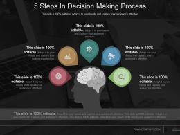 5 Steps In Decision Making Process Sample Ppt Presentation