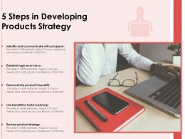 5 Steps In Developing Products Strategy