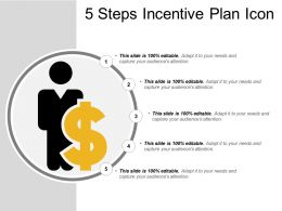 5 Steps Incentive Plan Icon