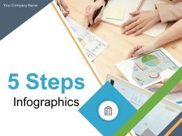 5 Steps Infographics Growth Strategy Business Success Process