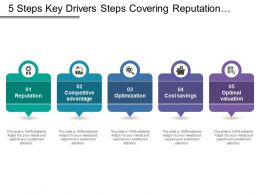 5 Steps Key Drivers Steps Covering Reputation Optimization Optimal Valuation And Branding