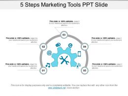 5 Steps Marketing Tools Ppt Slide