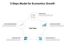 5 Steps Model For Economics Growth
