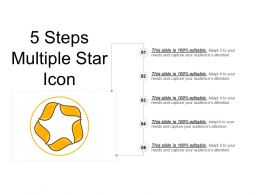 5 Steps Multiple Star Icon Ppt Diagrams
