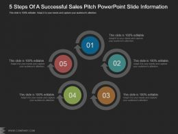 5 Steps Of A Successful Sales Pitch Powerpoint Slide Information