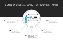 5 Steps Of Business Journey Icon Powerpoint Themes